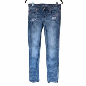 American eagle distressed skinny jeans 4